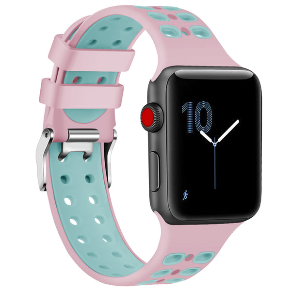 Sport silicone band with a steel buckle