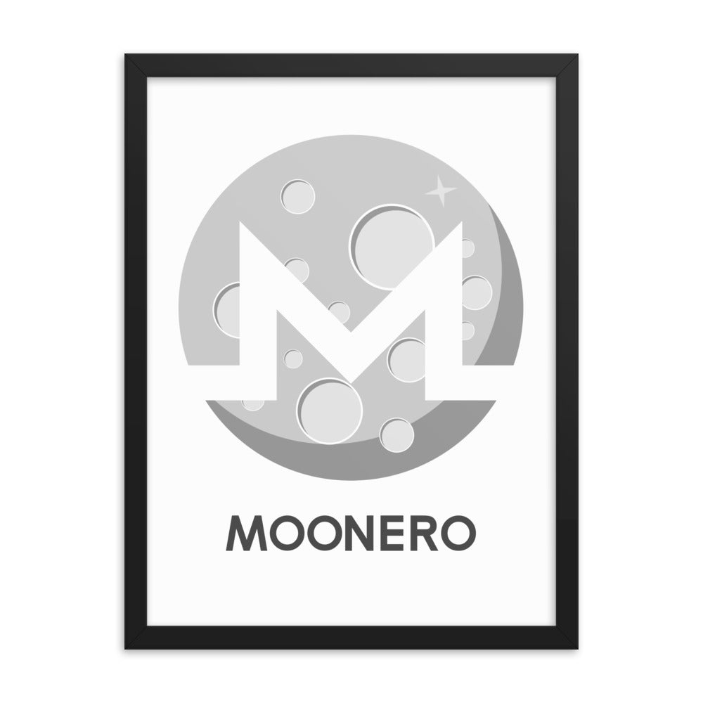 XMR | Monero Moonero Poster