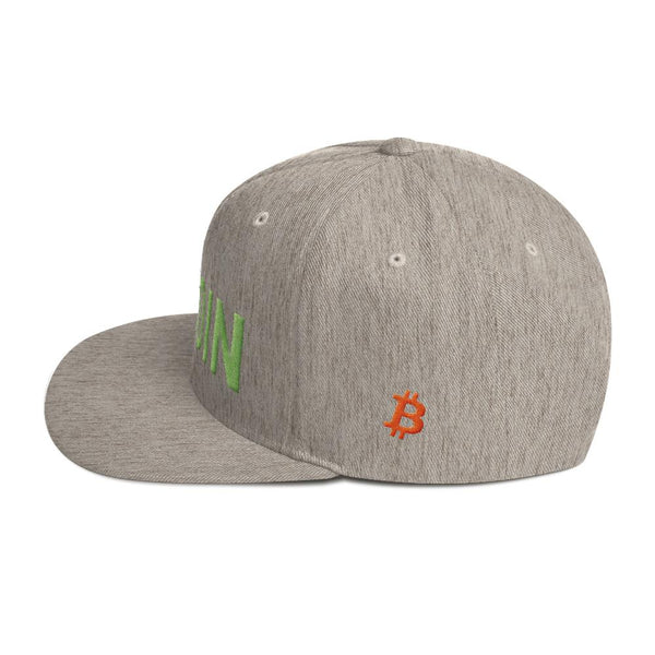 Hat - BTC | The Ultimate Custom Bitcoin Hat - Heather Grey