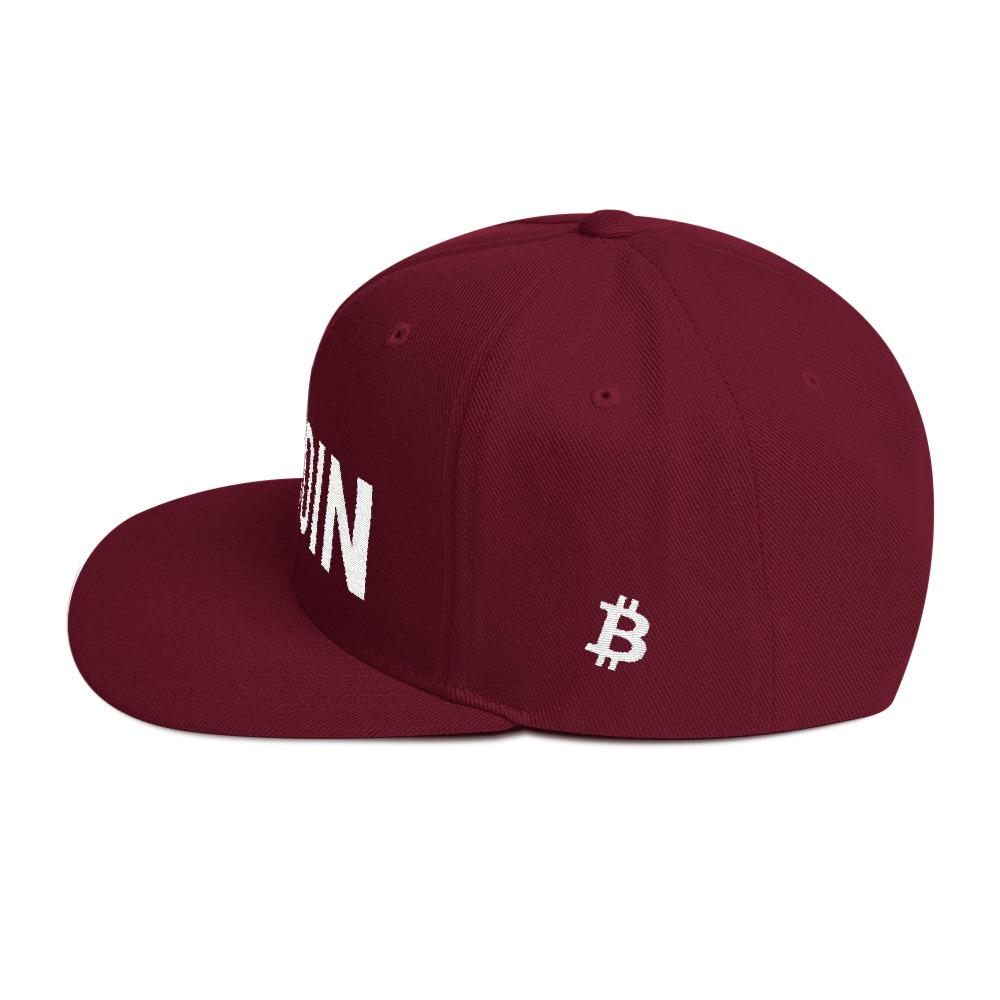 BTC | The Ultimate Custom Bitcoin Hat - Maroon