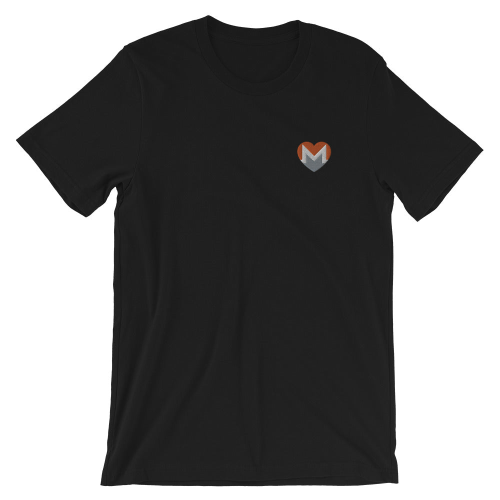 XMR | Monero Embroidered Love Heart T-Shirt