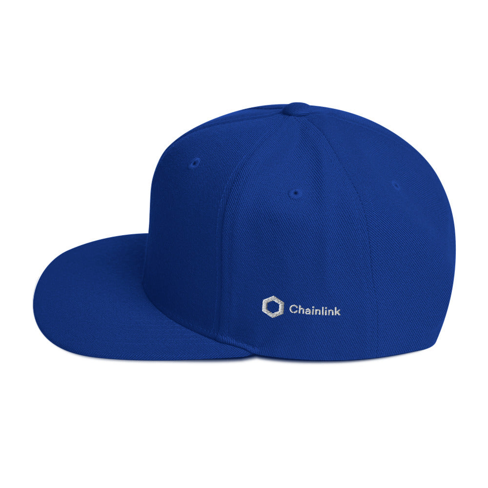 LINK | Chainlink Embroidered Snapback Hat