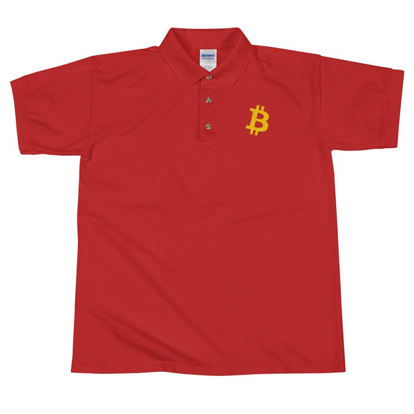 Polo Shirt - BTC | Bitcoin Embroidered Polo Shirt