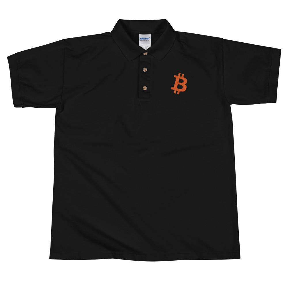 BTC | Bitcoin Embroidered Polo Shirt