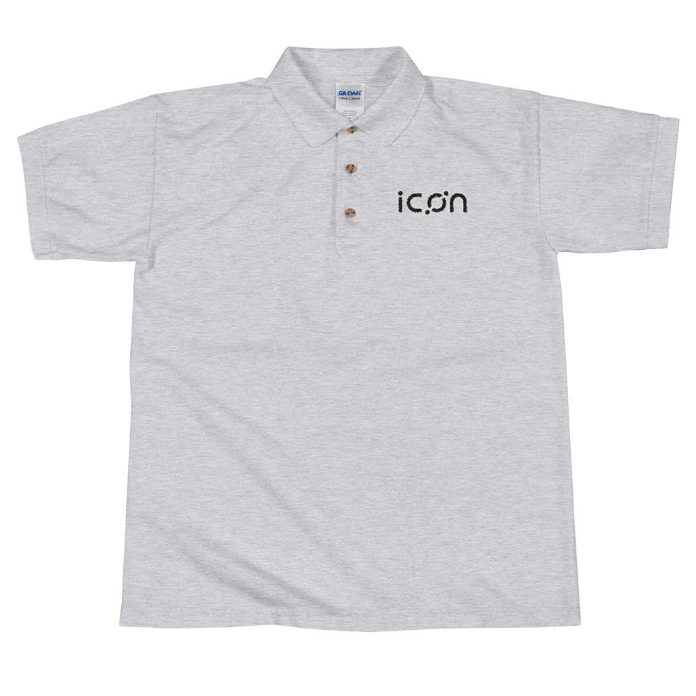 ICX | Icon Black Embroidered Polo Shirt