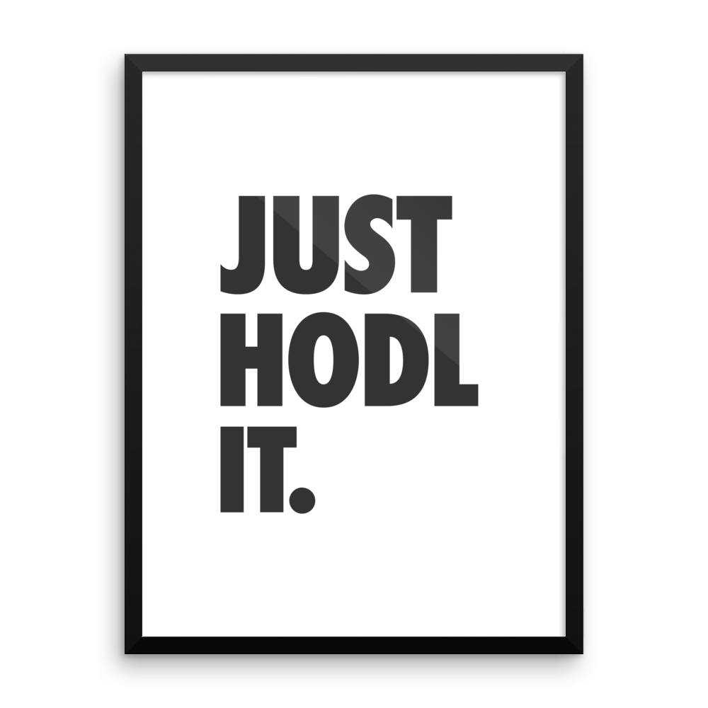 JUST HODL IT WHITE