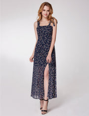 Alisapan Romantic Floral Printed A Line Casual Dresses AS05959