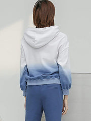 Color=Blue & White | Fashion Tie-Dye Hoodies For Women With Long Sleeve-Blue & White 2