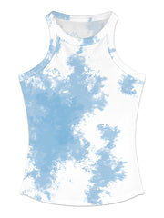 Color=Sky Blue | Fashion Street-Style Printed Tank Top For Women-Sky Blue 1
