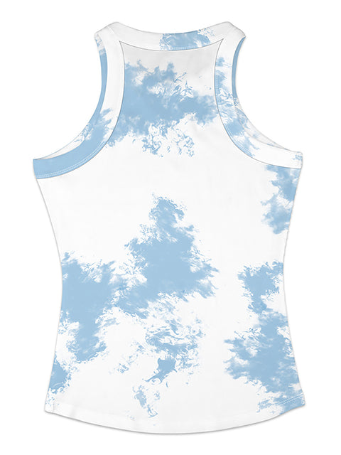 Color=Sky Blue | Fashion Street-Style Printed Tank Top For Women-Sky Blue 2