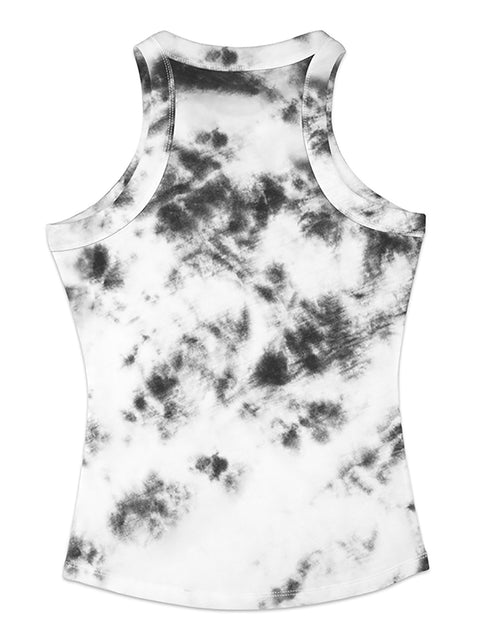 Color=Black & White | Fashion Street-Style Printed Tank Top For Women-Black & White 2