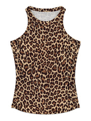 Color=Coffee | Fashion Street-Style Printed Tank Top For Women-Coffee 1