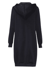 Color=Navy Blue | Women'S Warm Hooded Cardigan Coat With Front Zipper-Navy Blue 2