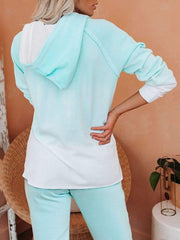 Color=Mint Green | Fashion Tie-Dye Loungewear Set For Women With Pocket-Mint Green 4