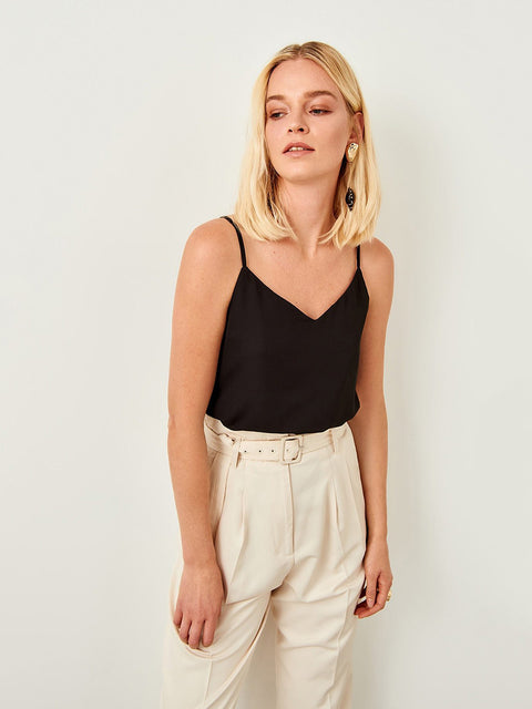 Basic Solid Sexy Tops Summer Casual V-collar Chiffon Tank Tops