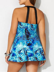 Color=Sky Blue | Fashion Printed Swimwear With Straps-Sky Blue 2