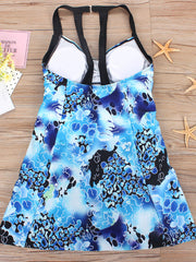 Color=Sky Blue | Fashion Printed Swimwear With Straps-Sky Blue 4