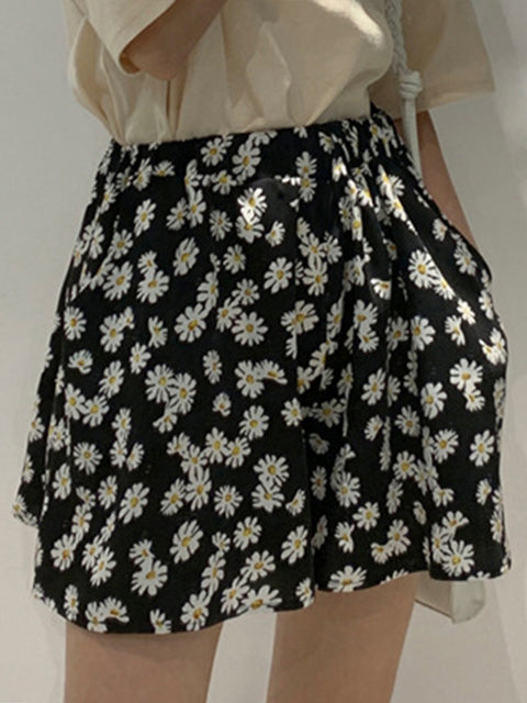 Women's Summer Floral Daisy Printed Short Skirt