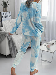 Color=Sky Blue | Women'S Dainty Pajama Sets With Long Sleeves & Pants-Sky Blue 2