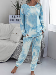 Color=Sky Blue | Women'S Dainty Pajama Sets With Long Sleeves & Pants-Sky Blue 3