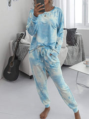 Color=Sky Blue | Women'S Dainty Pajama Sets With Long Sleeves & Pants-Sky Blue 1