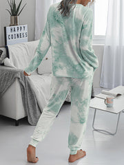 Color=Green | Women'S Dainty Pajama Sets With Long Sleeves & Pants-Green 2