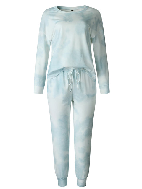 Color=Green | Women'S Dainty Pajama Sets With Long Sleeves & Pants-Green 5