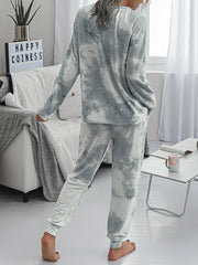 Color=Grey | Women'S Dainty Pajama Sets With Long Sleeves & Pants-Grey 2