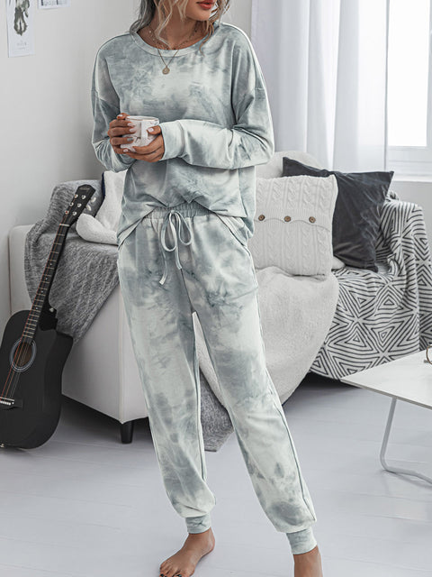 Color=Grey | Women'S Dainty Pajama Sets With Long Sleeves & Pants-Grey 4
