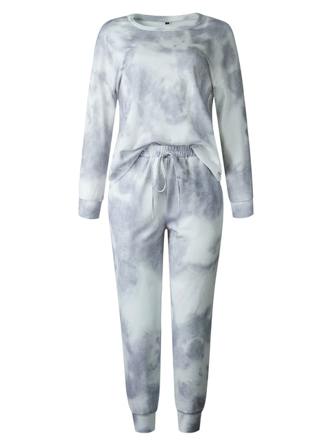 Color=Grey | Women'S Dainty Pajama Sets With Long Sleeves & Pants-Grey 5
