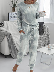 Color=Grey | Women'S Dainty Pajama Sets With Long Sleeves & Pants-Grey 1