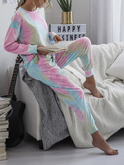 Color=Multicolor | Women'S Dainty Pajama Sets With Long Sleeves & Pants-Multicolor 3