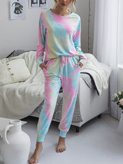 Color=Multicolor | Women'S Dainty Pajama Sets With Long Sleeves & Pants-Multicolor 1