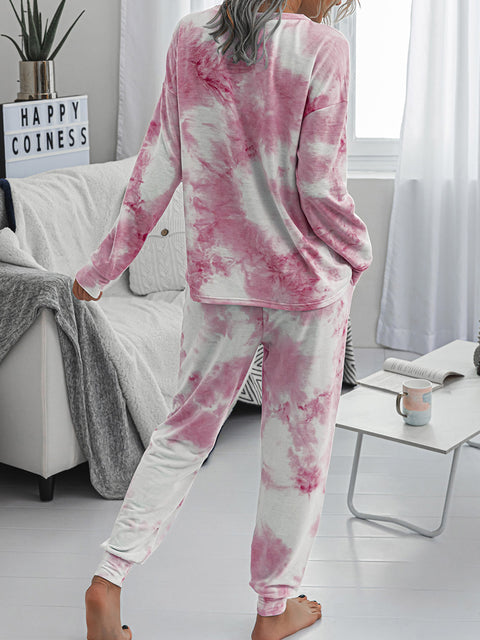 Color=Pink | Women'S Dainty Pajama Sets With Long Sleeves & Pants-Pink 2