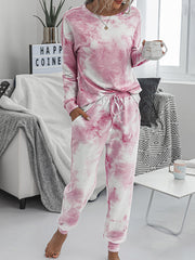 Color=Pink | Women'S Dainty Pajama Sets With Long Sleeves & Pants-Pink 1