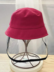 Color=Burgundy | Anti-Spitting Anti-Dust Anti-Fog Protective Full Hat For Children-Burgundy 1