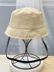 Color=Beige | Anti-Spitting Anti-Dust Anti-Fog Protective Full Hat For Children-Beige 1