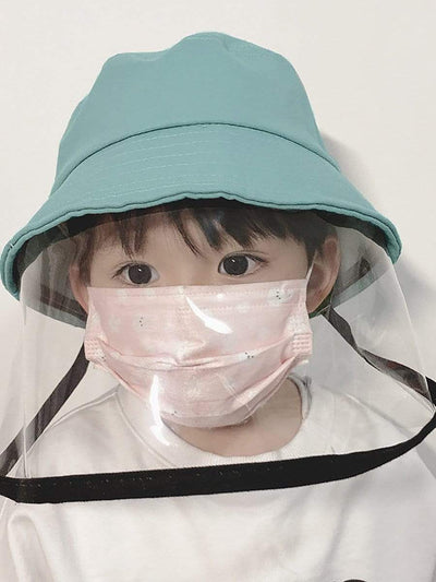 Color=Sky Blue | Anti-Spitting Anti-Dust Anti-Fog Protective Full Hat For Children-Sky Blue 1
