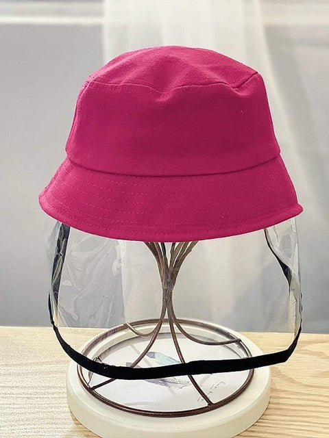 Color=Coral | Anti-Spitting Anti-Dust Anti-Fog Protective Full Hat For Children-Coral 1