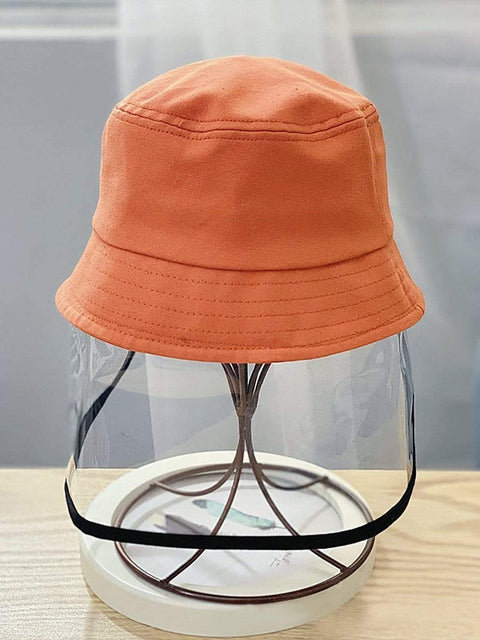 Color=Orange | Anti-Spitting Anti-Dust Anti-Fog Protective Full Hat For Children-Orange 1