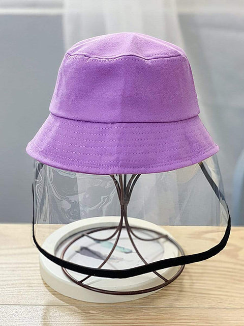 Color=Purple | Anti-Spitting Anti-Dust Anti-Fog Protective Full Hat For Children-Purple 1