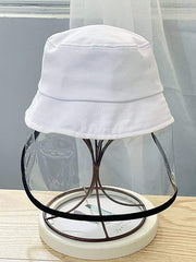 Color=White | Anti-Spitting Anti-Dust Anti-Fog Protective Full Hat For Children-White 1
