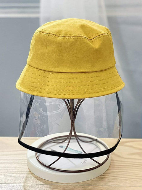 Color=Yellow | Anti-Spitting Anti-Dust Anti-Fog Protective Full Hat For Children-Yellow 1