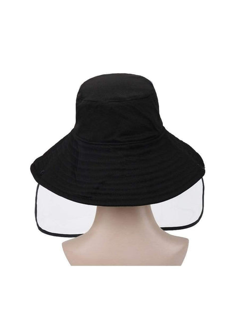 Color=Black | Anti-Spitting Anti-Virus Protective Removable Full Hat-Black 2