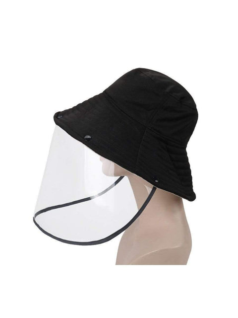 Color=Black | Anti-Spitting Anti-Virus Protective Removable Full Hat-Black 3