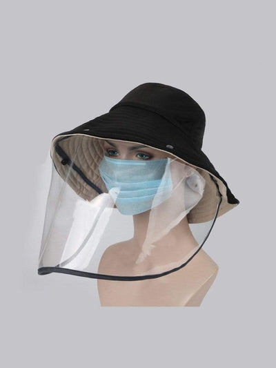Color=Black | Anti-Spitting Anti-Virus Protective Removable Full Hat-Black 1
