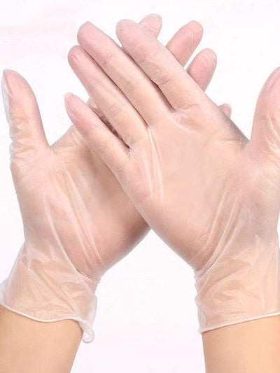 Color=transparent | Cheap Anti-Bacterial Powder Free Pvc Transparent Protective Gloves-Transparent 1