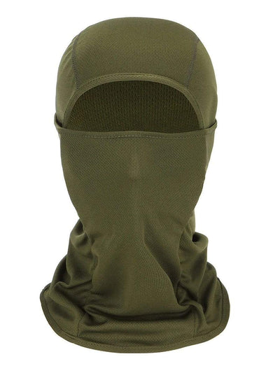 Color=Dark Green | Warm Light Weight Riding Headwear Balaclava Protective Face Hat-Dark Green 1