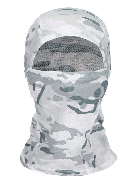 Color=Black& White | Warm Light Weight Riding Headwear Balaclava Protective Face Hat-Black& White 1