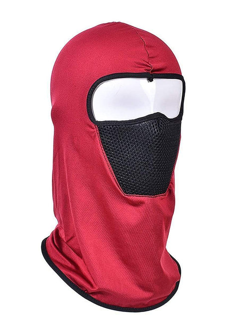 Color=Red | Protective Comfortable Windproof Full Face Hat-Red 1